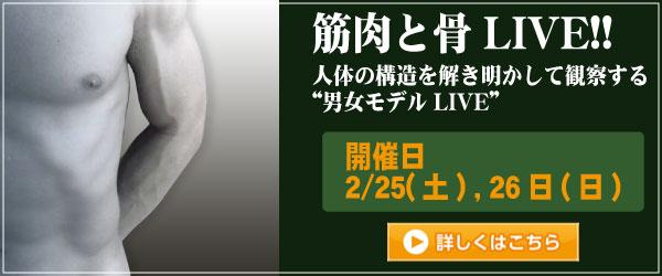 筋肉と骨LIVE!!2017 追加開催2月25日~26日
